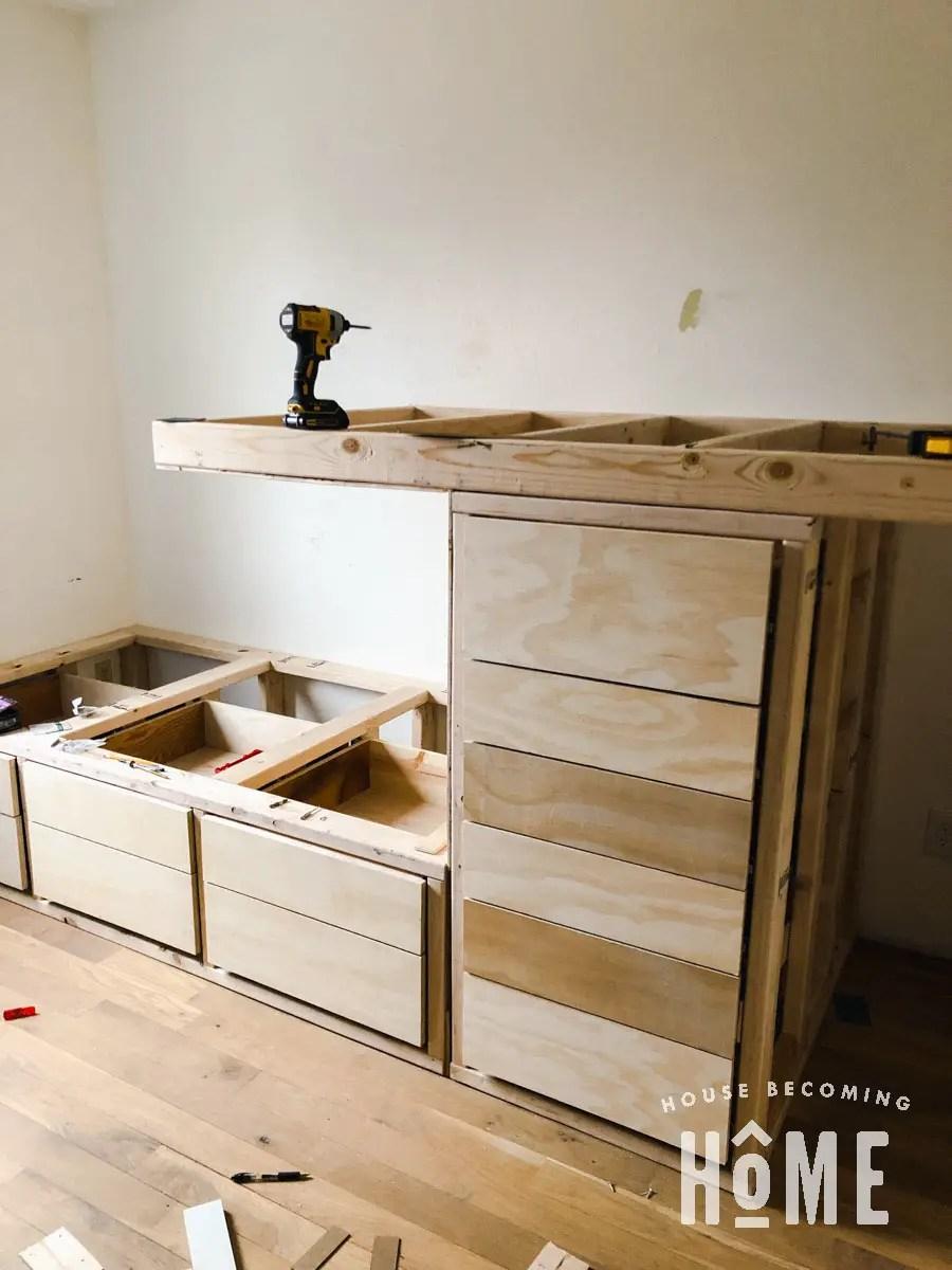 Building Offset Built in Bunk Beds