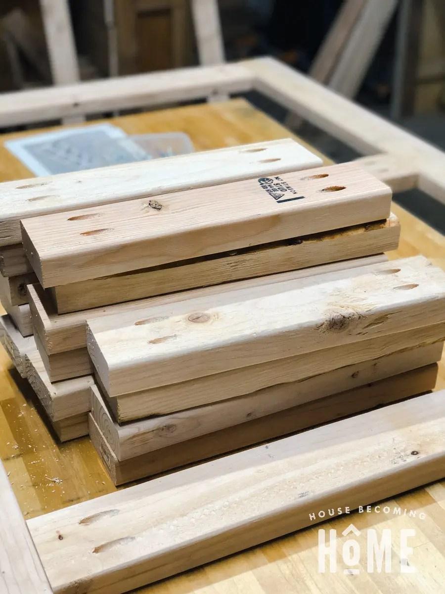 Pocket Hole Construction Offset Bunk Beds