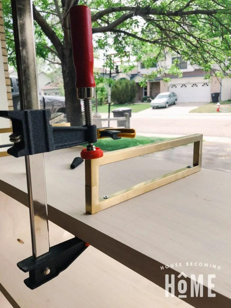 Clamp Brass Drawer Pulls to Make Brass Furniture Legs