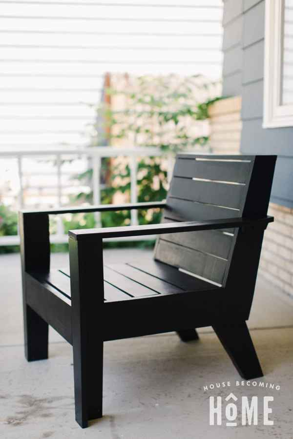 Build a Rejuvenation Modern Adirondack Chair