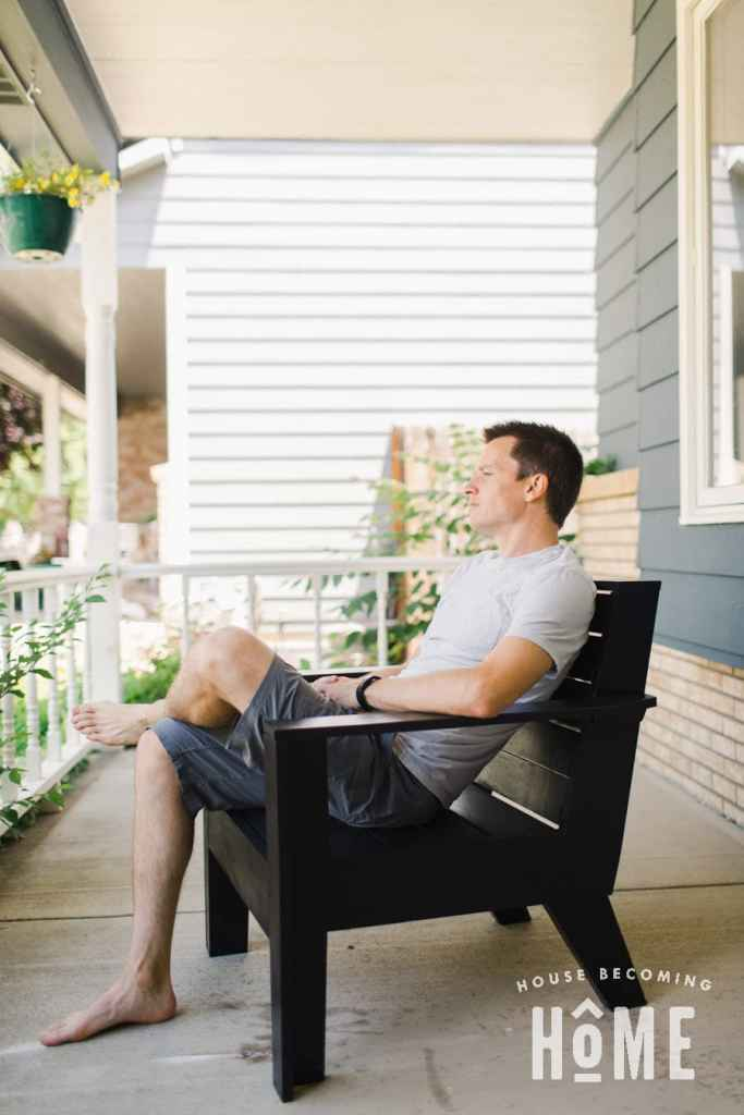 DIY Modern Adirondack Chair