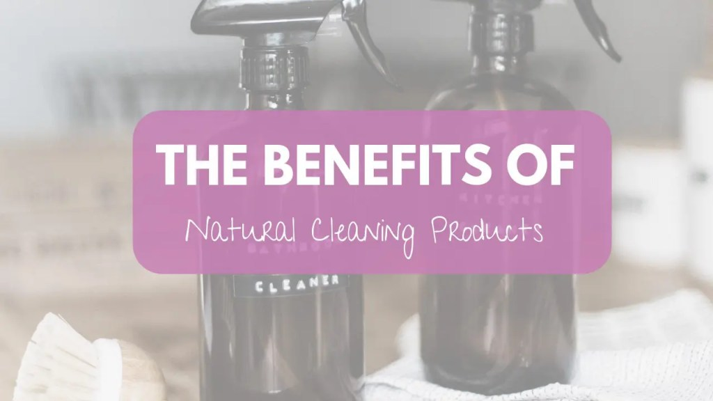 Two bottles of all natural, non toxic, earth friendly cleaning products