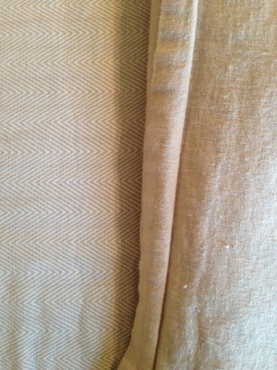 tone on tone herringbone sheets with linen duvet