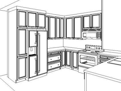 Kitchen Cabinet Rendering