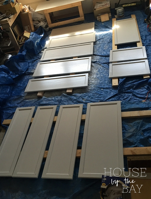 cabinet doors drying