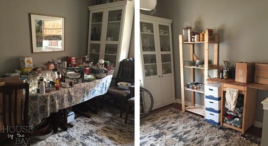 Dining Room Temporary Shelves
