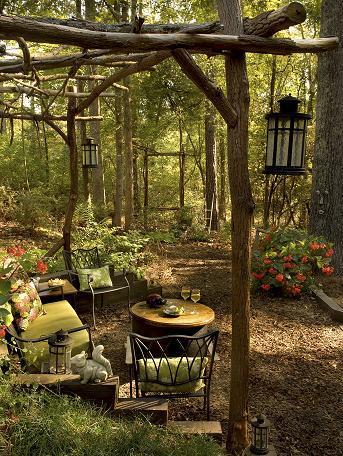 secret garden backyard oasis