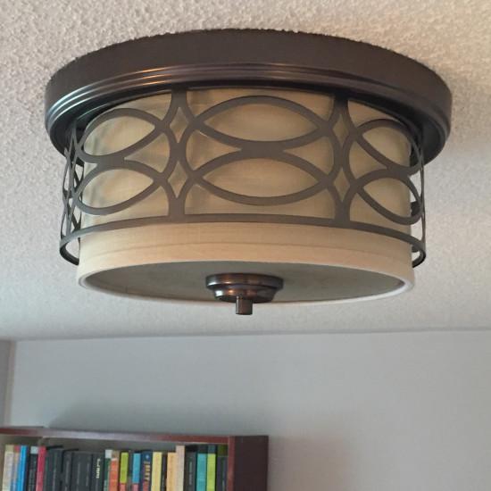 bedroom makeover ceiling light