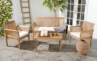 4-Piece+Carson+Teak+Outdoor+Seating+Group+Set