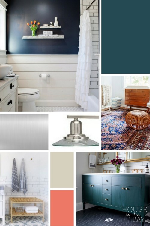Main Bathroom Makeover Inspiration for the Fall 2016 One Room Challenge