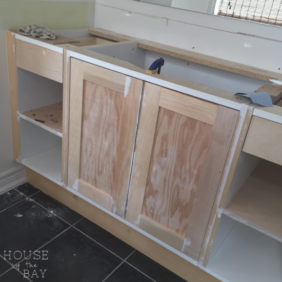 one room challenge bathroom vanity construction