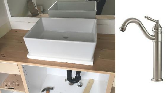 one room challenge bathroom makeover | American Standard Loft Vessel Sink | Kokols Single Handle Single Hole Vessel Sink Faucet