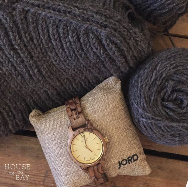 JORD Wood watch Winter DIY wardrobe plans Oshima sweater knitting