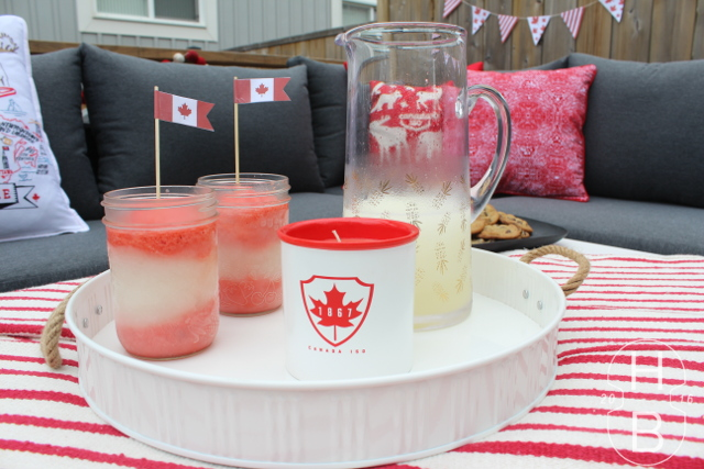 Canada Flag Frozen Cocktails | Canada 150 | House by the Bay Design