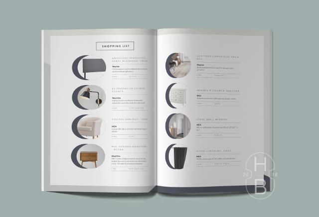 E-Design Design Plan | Shopping list | Interior decorating