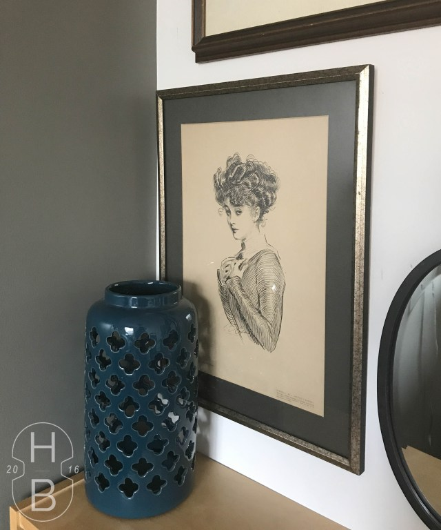Gibson Girl | Modern Vintage Gallery Wall | $100 Room Challenge | House by the Bay Design