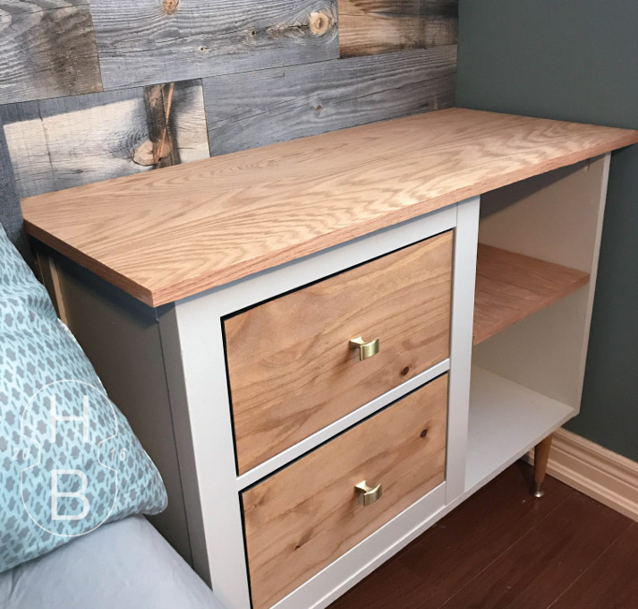 Ikea Hemnes Mid Century Modern Bedside Table Hack With