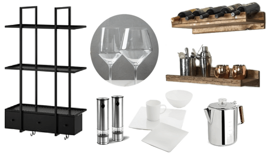 Industrial Loft Kitchen Accessories | Frigidaire Black Stainless Steel Appliances | House by the Bay Design