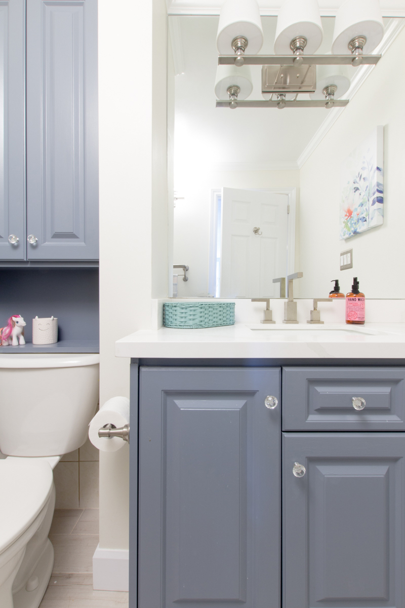 Colourful Kids Bathroom Makeover | House by the Bay Design