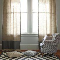 Linen curtains.