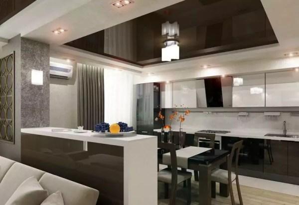 Гостиная-кухня Фото Дизайн