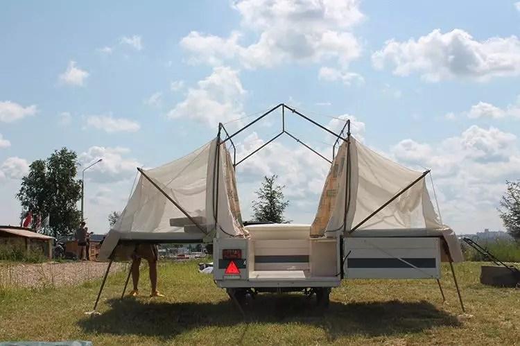 Самодельная прицеп палатка фото