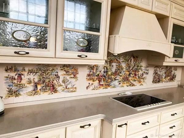 Фартук для кухни из плитки: дизайн, фото, параметры ...