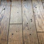 床の溝に溜まっていた汚れ