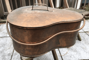 copper jambonniere, copper, copper cookware, vintage cookware, vintage american cookware, vintage french cookware, pure copper, pure cookware, solid copper, jambonniere, ham pan, copper ham pan, organic copper, pure, healthy, healthy cookware, healthy copper