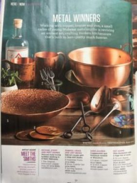 midwest living, house copper, coppersmith, american copper, midwest artists, midwest, wisconsin, coppersmiths, pure metal cookware, american copper, american cookware