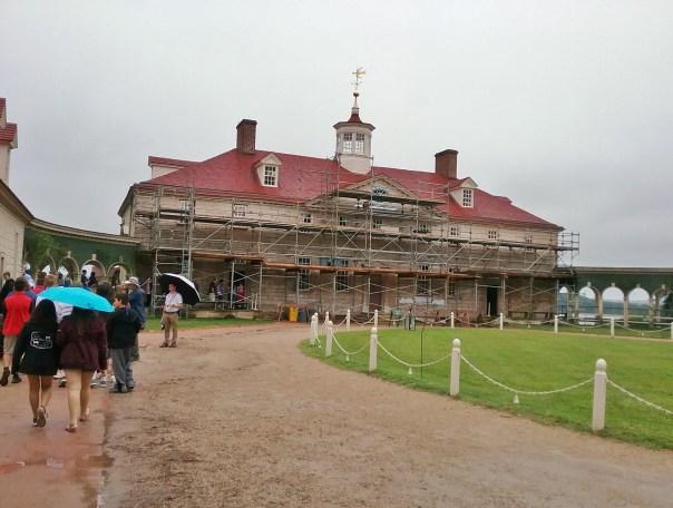 Mount Vernon under restoration