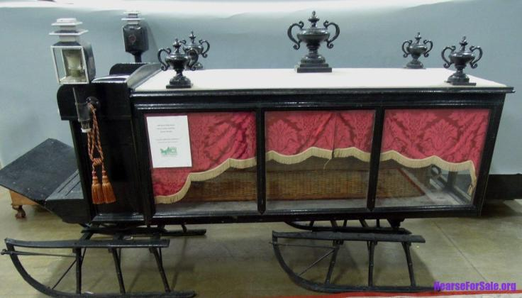 antique horse drawn hearse sleigh for sale