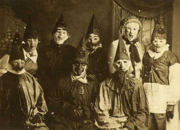 Creepy antique Halloween costumes