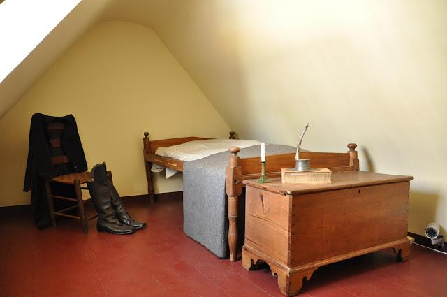 inside the Edgar Allan Poe house in Baltimore