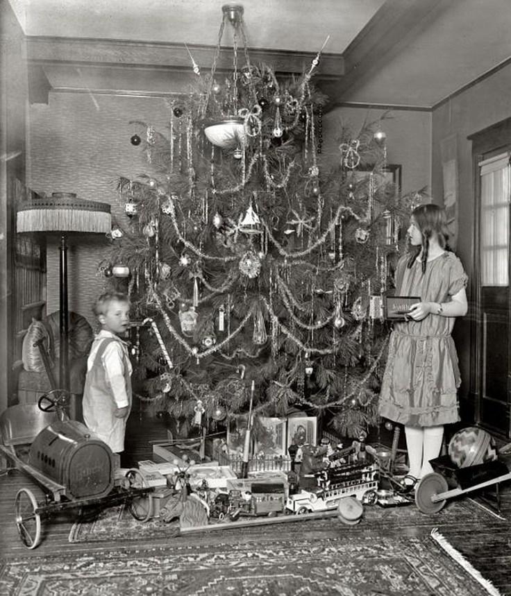 vintage Christmas tree photos