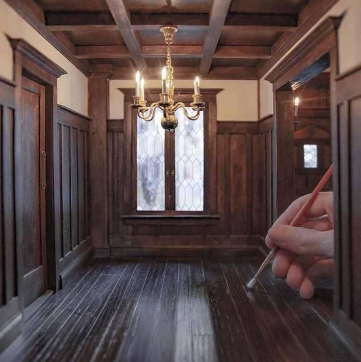 Artist Chris Toledo builds miniature interiors