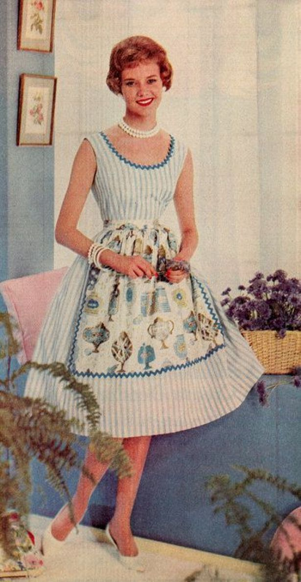 classic 1950s house dress