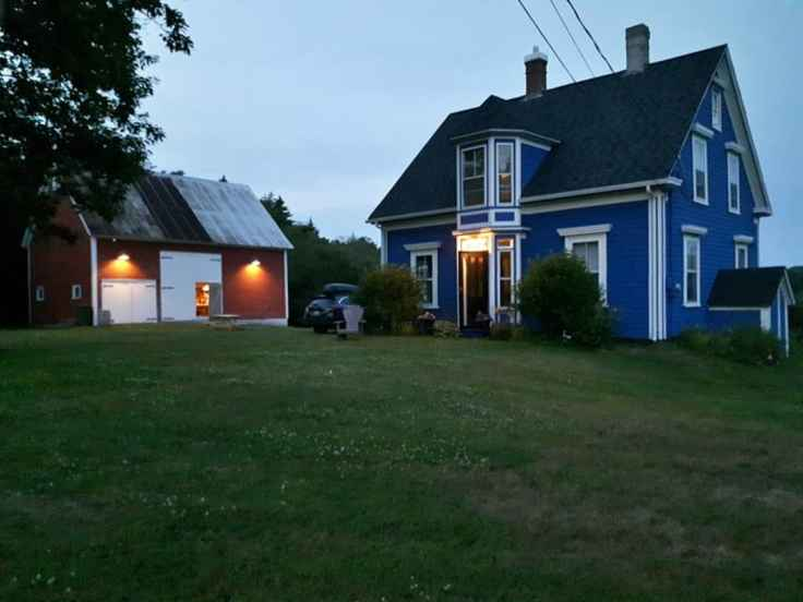 Blue House Red Barn in Lunenburg Nova Scotia