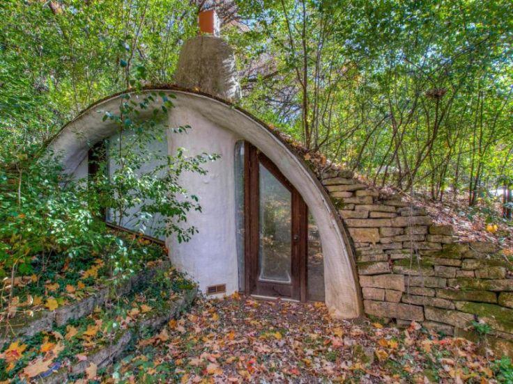 Earth-bermed 70s home in Wisconsin