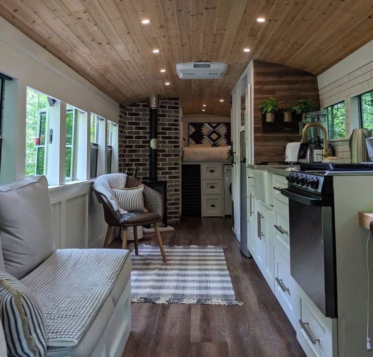 bus converted to tiny home