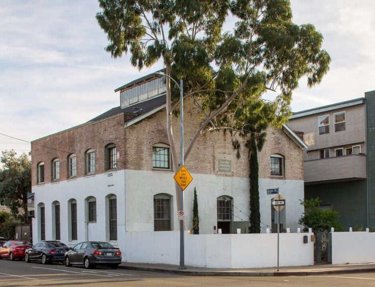 The Huron Substation Building in LA exterior
