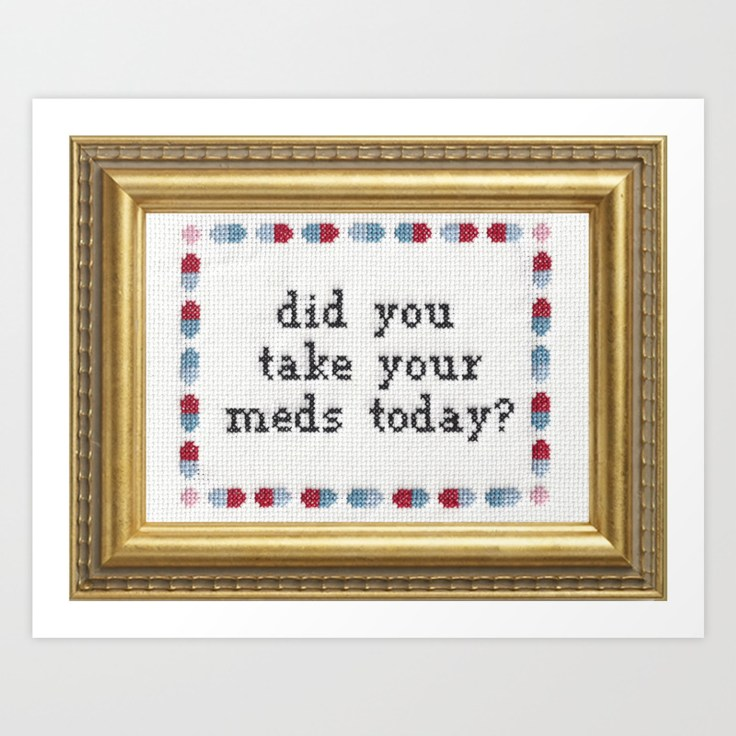 naughty needlepoint