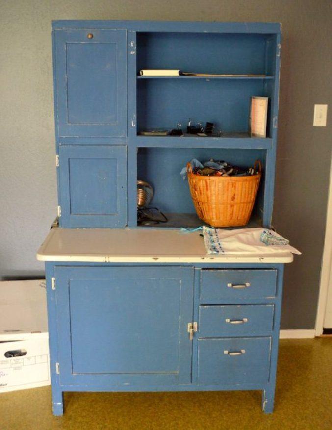 blue Hoosier cabinets