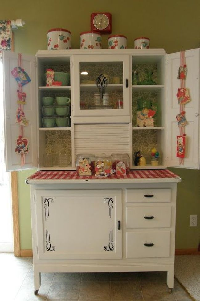 white hoosier cabinets