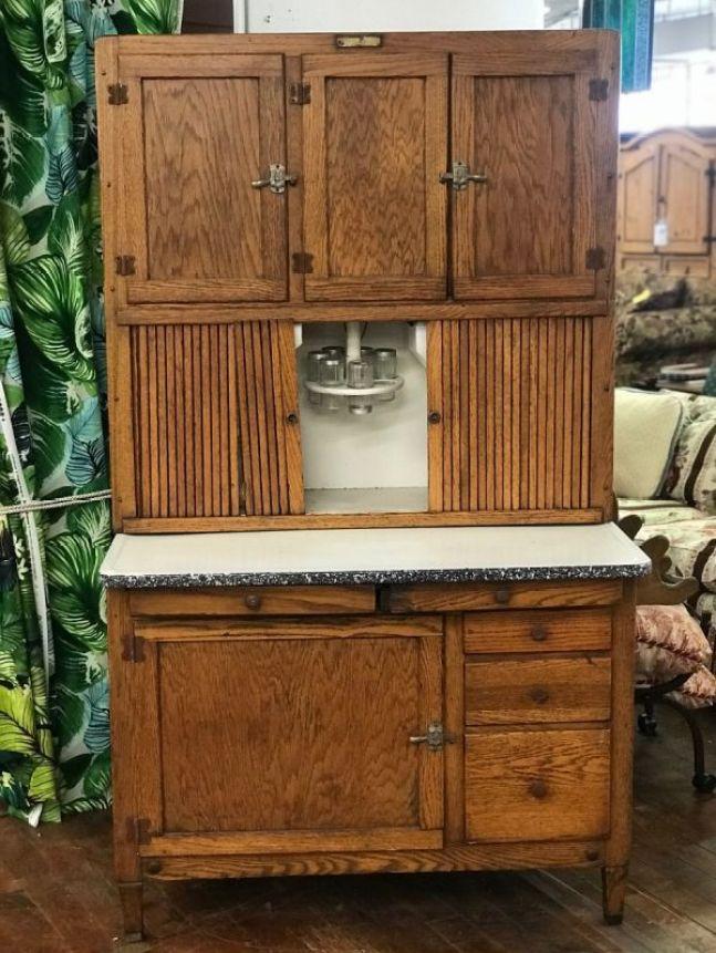 wood hoosier cabinet