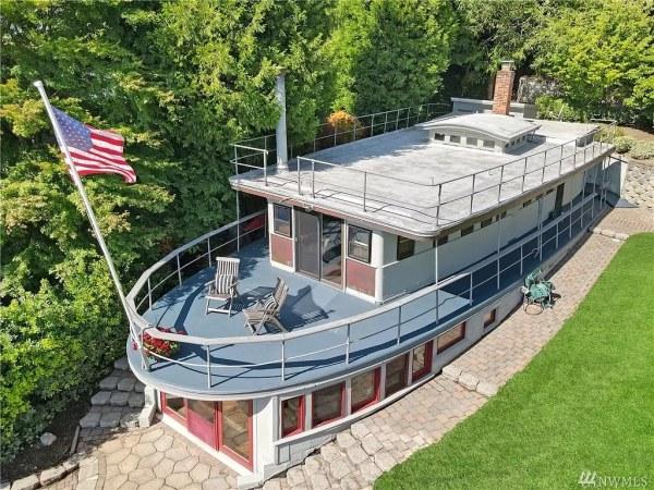 Boat House on land on Mercer Island Washington