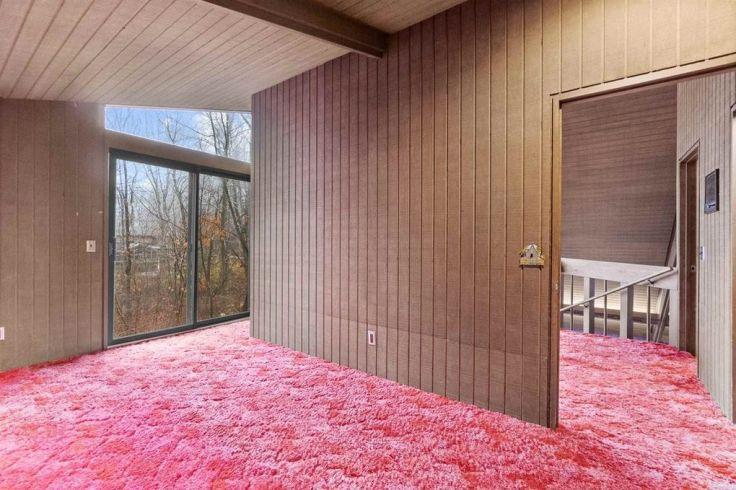1970's red shag carpet