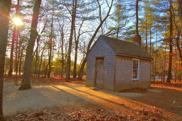 Henry David Thoreau's cabin on Walden Pond