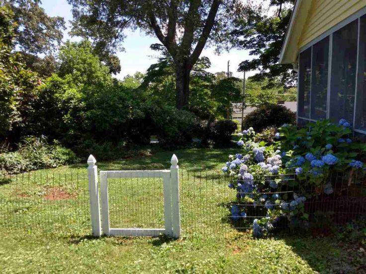 Victorian home garden