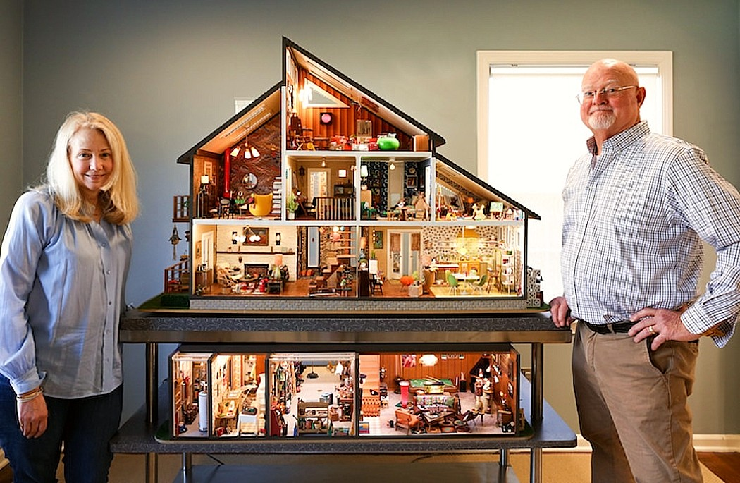 mid-century modern dollhouse